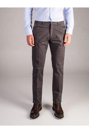 Dufy Antrasit Düz Erkek Pantolon - Regular Fıt