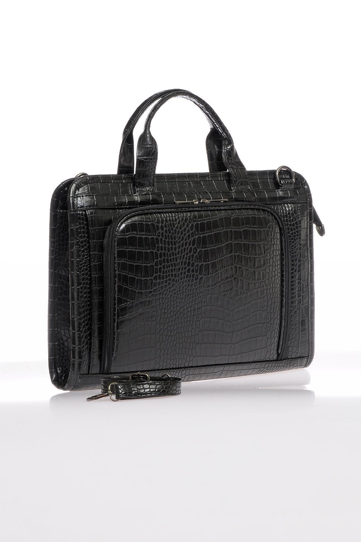 Sergio Giorgianni Luxury Sg071219 Kroko/siyah Unisex Evrak Çantası 2