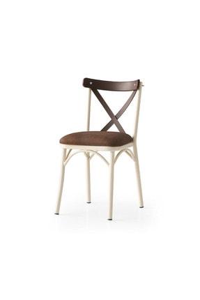 Weltew Home Ege Sandalye Ekru-kahve (4 Adet)
