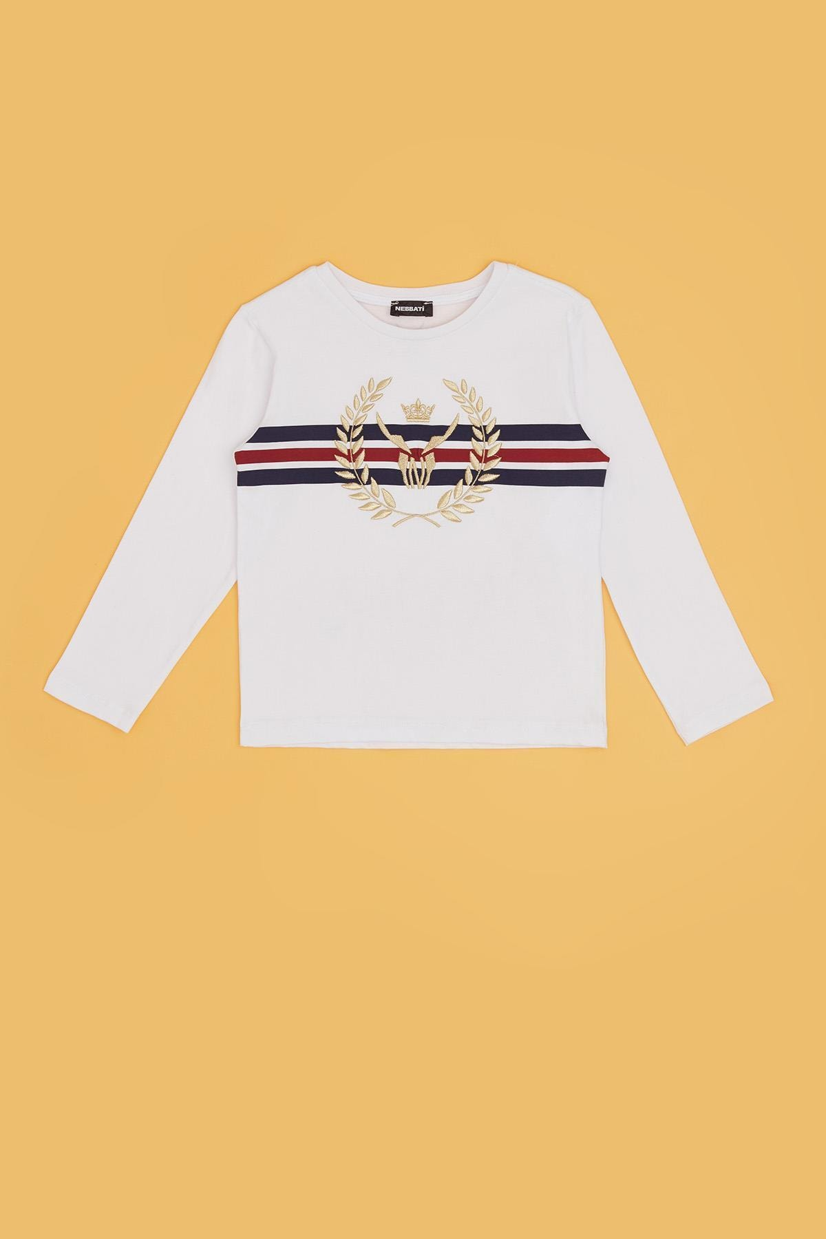 Nebbati Erkek Çocuk Beyaz T-shirt 20fw0nb3514 2