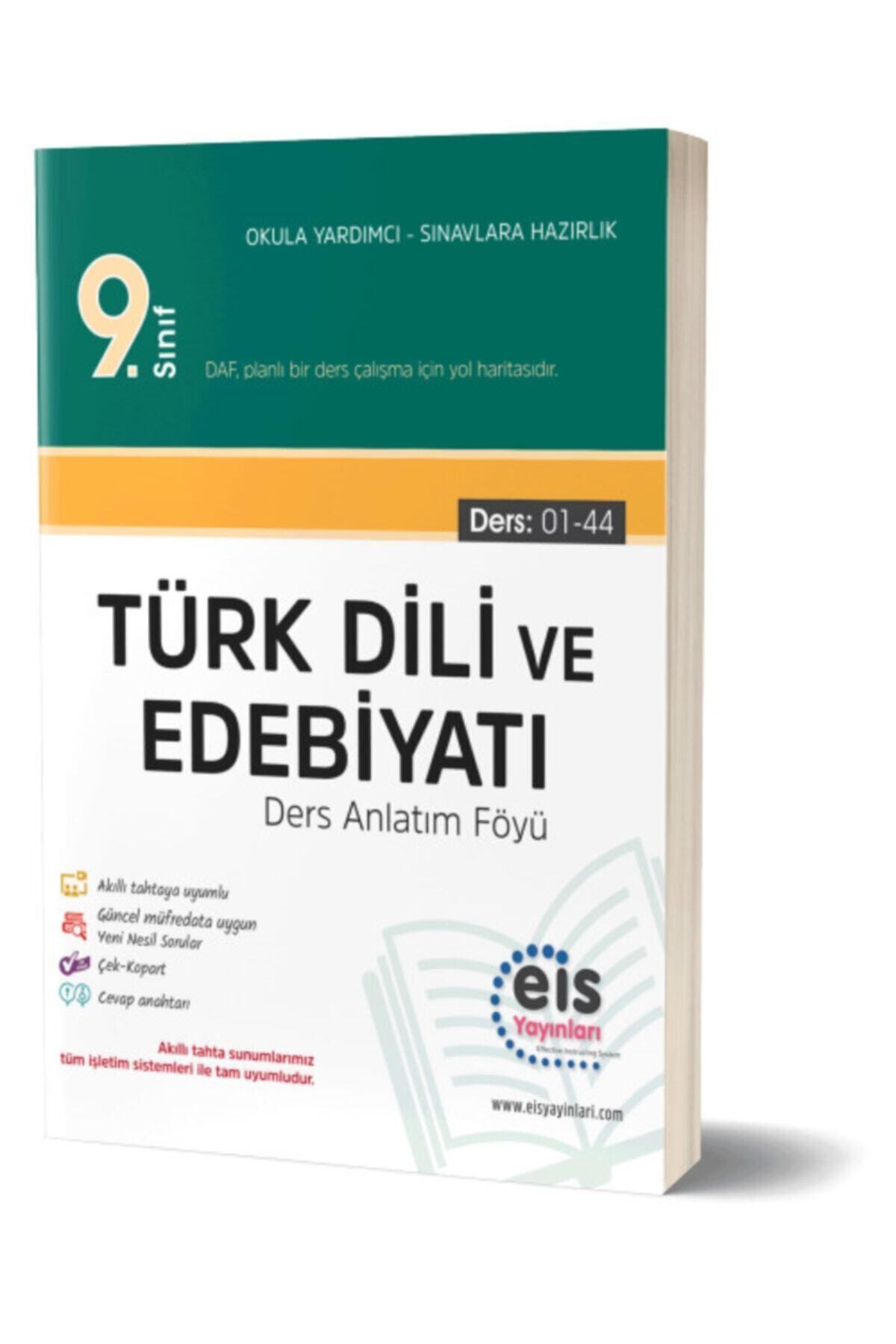 Eis Yay Inları 9.sınıf Daf Ders Anlatım Föyü Türk Dili Ve Edebiyatı 1