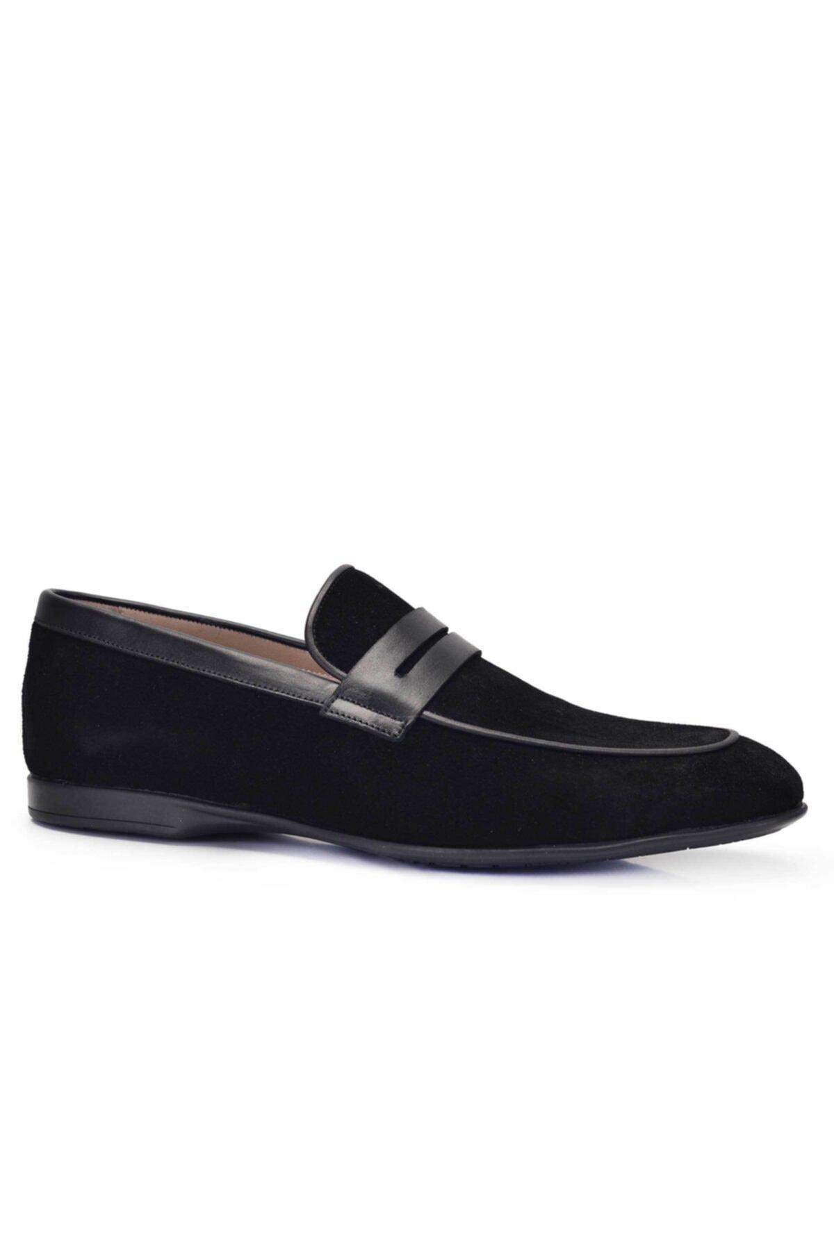 Nevzat Onay Hakiki Deri Siyah Günlük Loafer Yazlık Erkek Ayakkabı -11581- 2