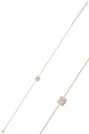 Söğütlü Silver Gümüş Rose Baget Taşlı Bileklik