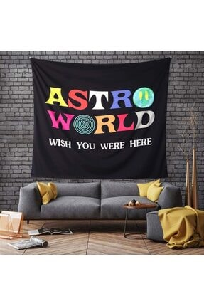 Trendiz Astro World Siyah Duvar Halısı 75x100 W20003