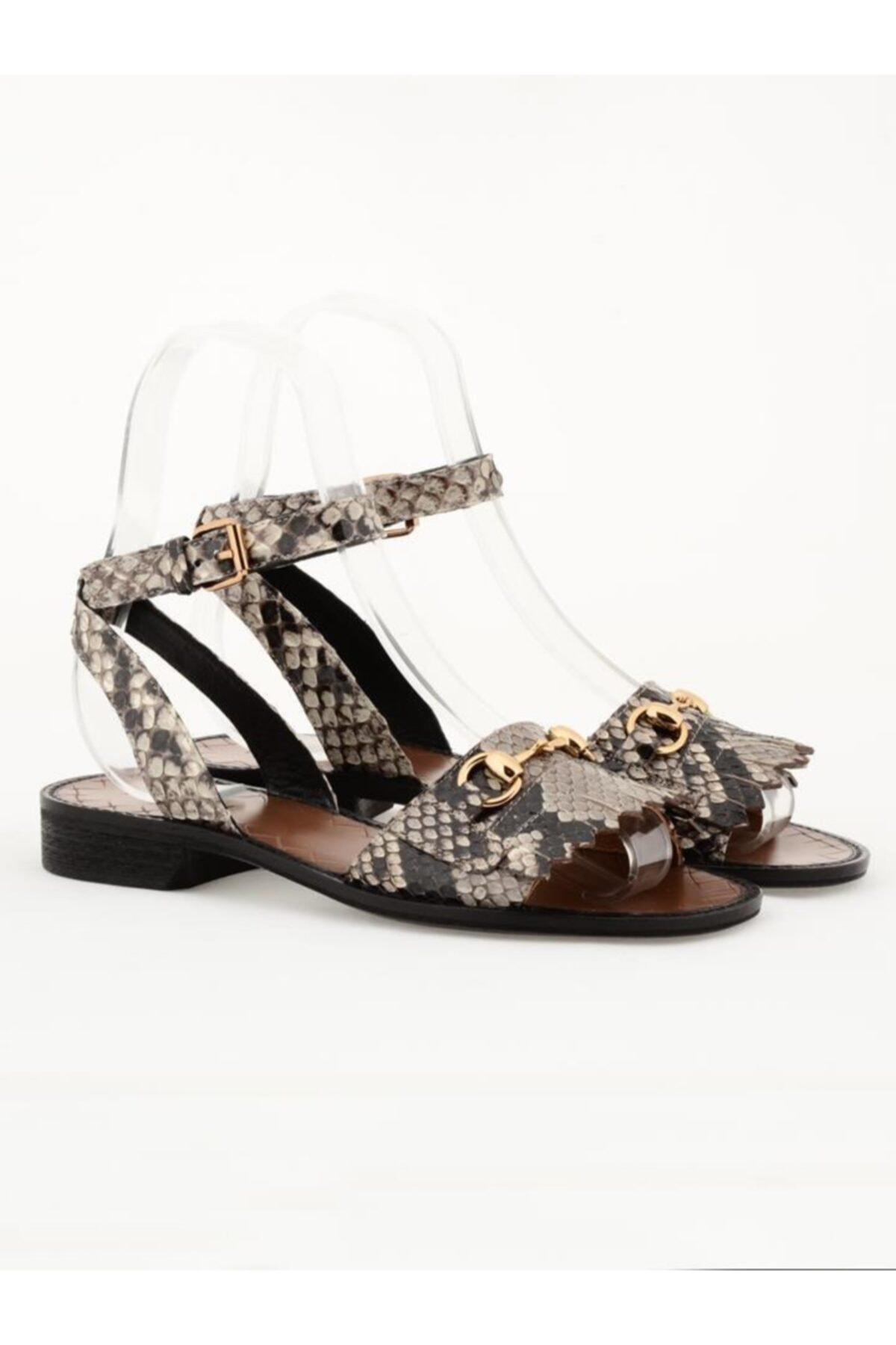 Nursace Hakiki Deri Sandalet Nsc18y-a08273 1
