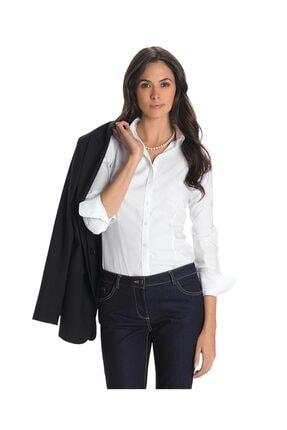 BROOKS BROTHERS Kadın Beyaz Non-iron Klasik Gömlek