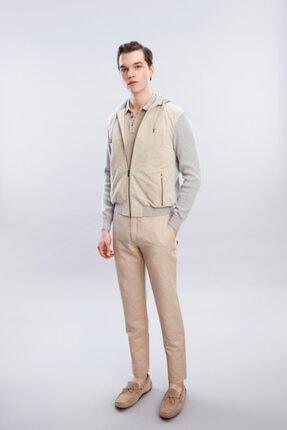 W Collection Açık Bej Deri Ceket