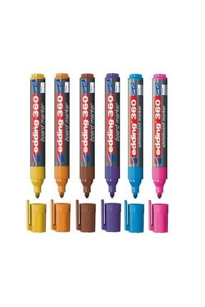 Edding 360 Beyaz Tahta Kalemi 6 Renk Set