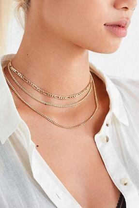 X-Lady Accessories Kadın Altın Zincir Seti