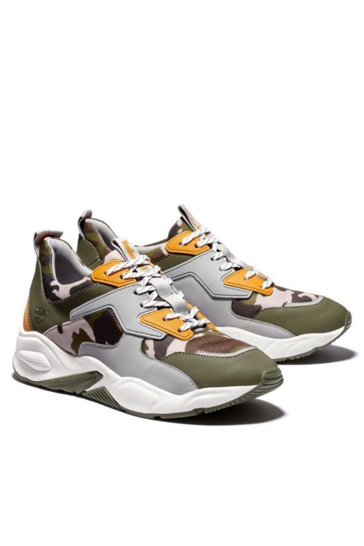 Timberland Delphiville Textile Sneaker Kadın Ayakkabı Kamuflaj 1