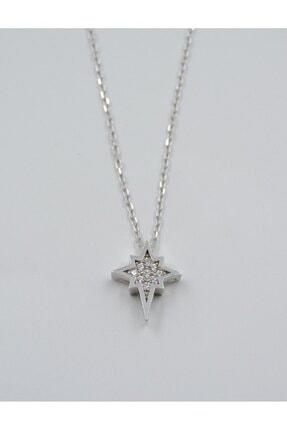 Swaroski Swarovski Taşlı Yıldız Desen 925 Ayar Gümüş Kadın Kolye