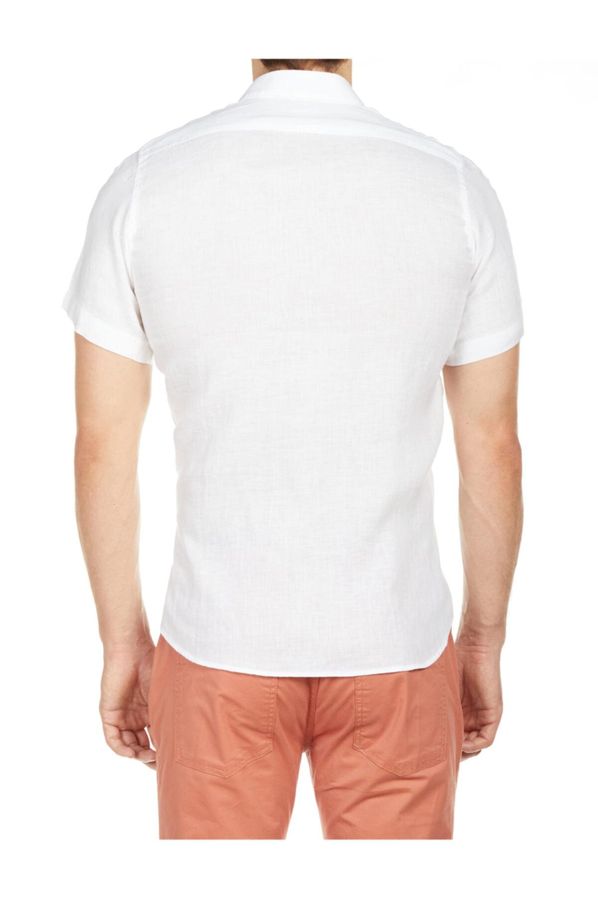 Bisse Regular Fit Kısa Kollu Keten Gömlek 2