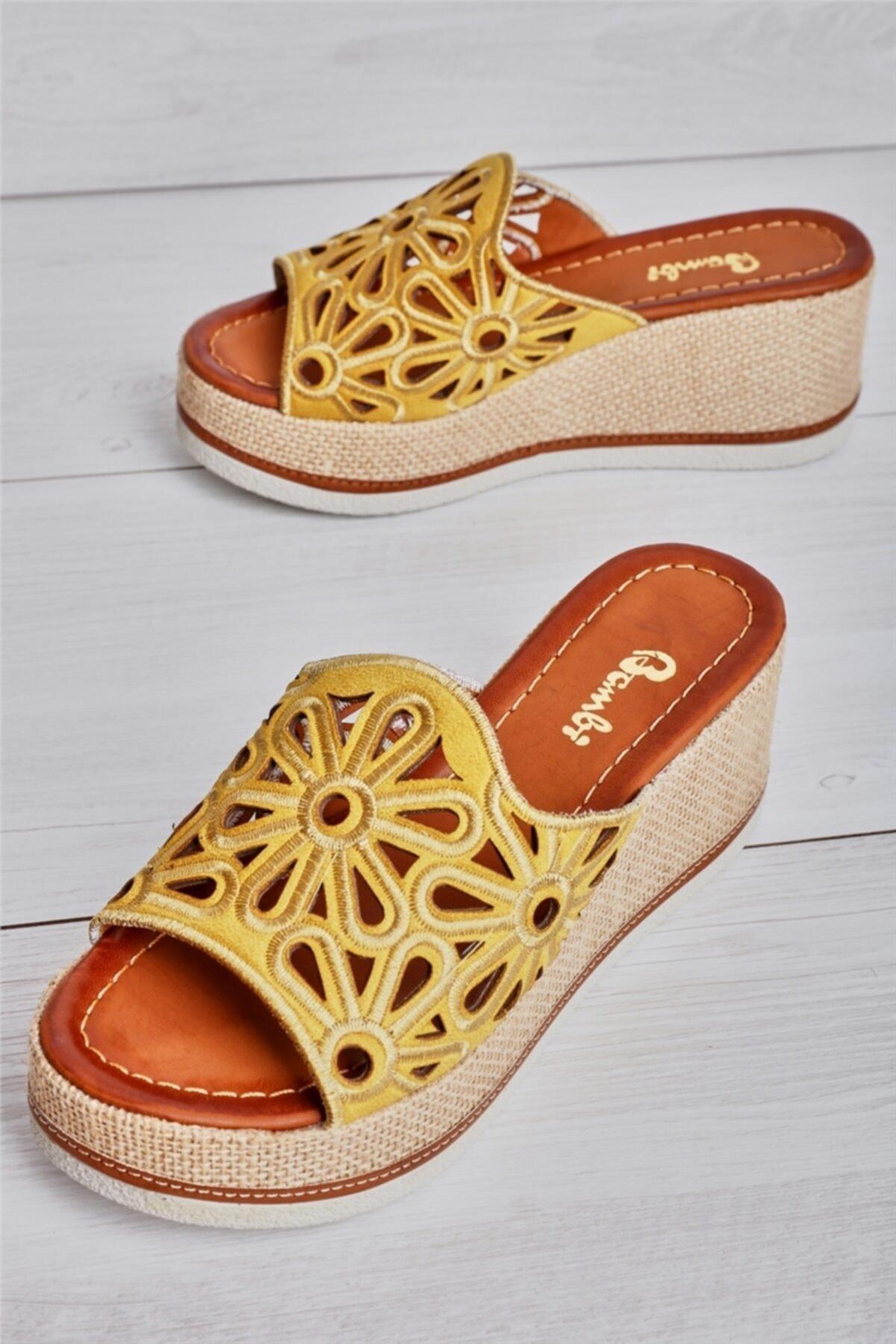 Bambi Hardal Süet Kadın Sandalet L0578470065 1