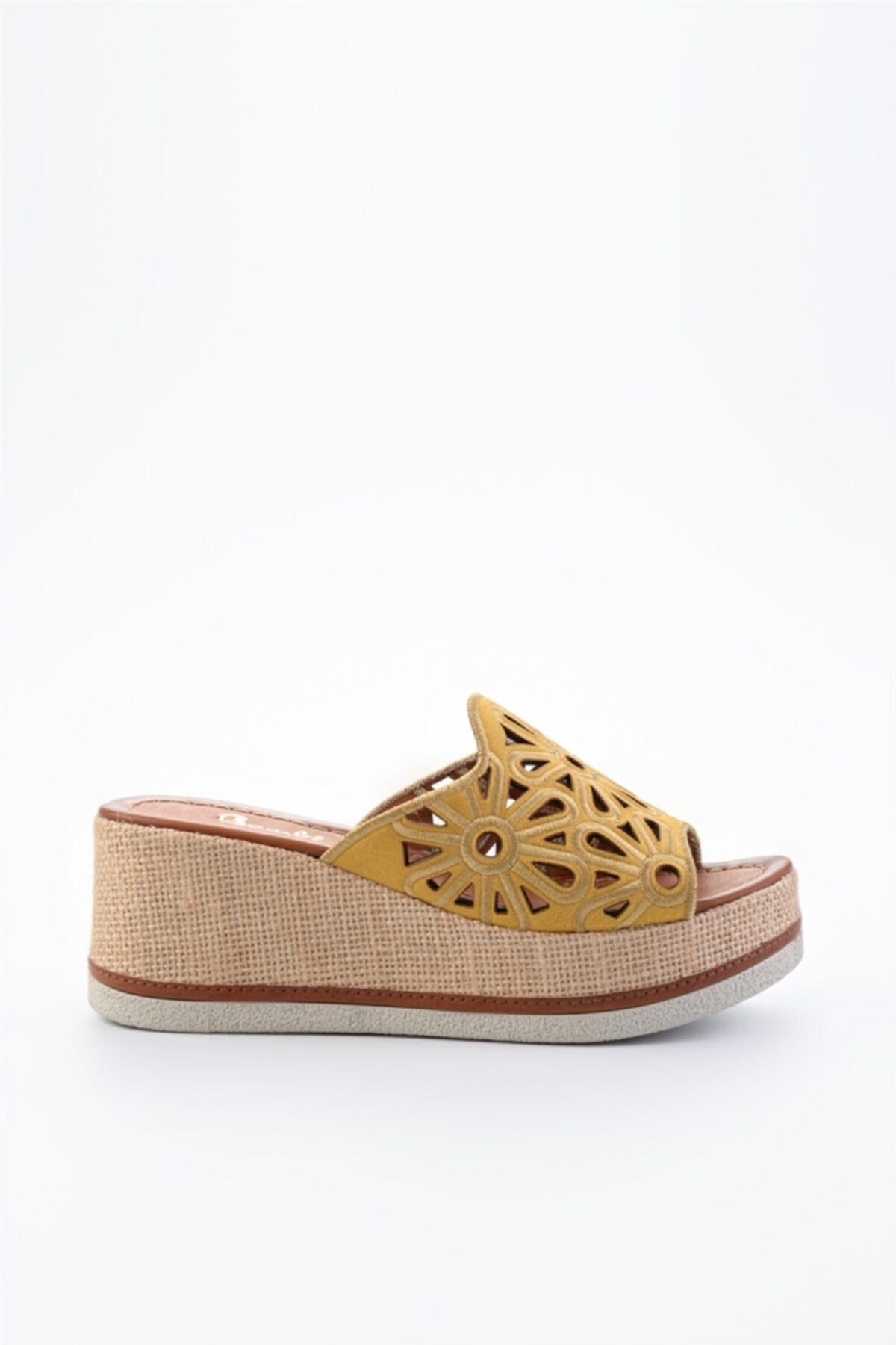 Bambi Hardal Süet Kadın Sandalet L0578470065 2