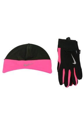 Nike Dri-fit Unisex Siyah Koşu Eldiven Bere Seti N.rc.01.067.md