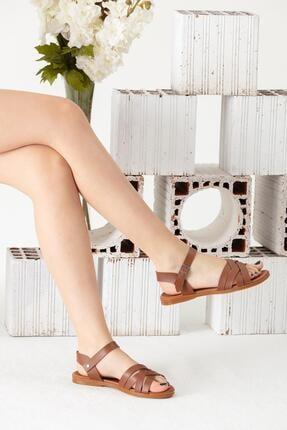 Moda Eleysa Kahverengi Sandalet