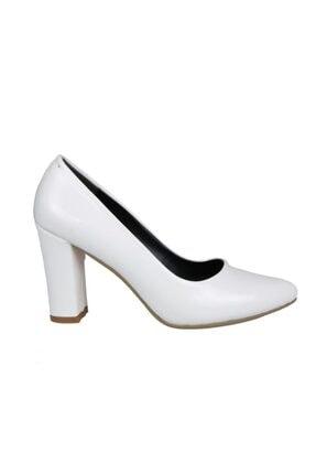 PUNTO 462067 Beyaz Rugan Kadın Stiletto
