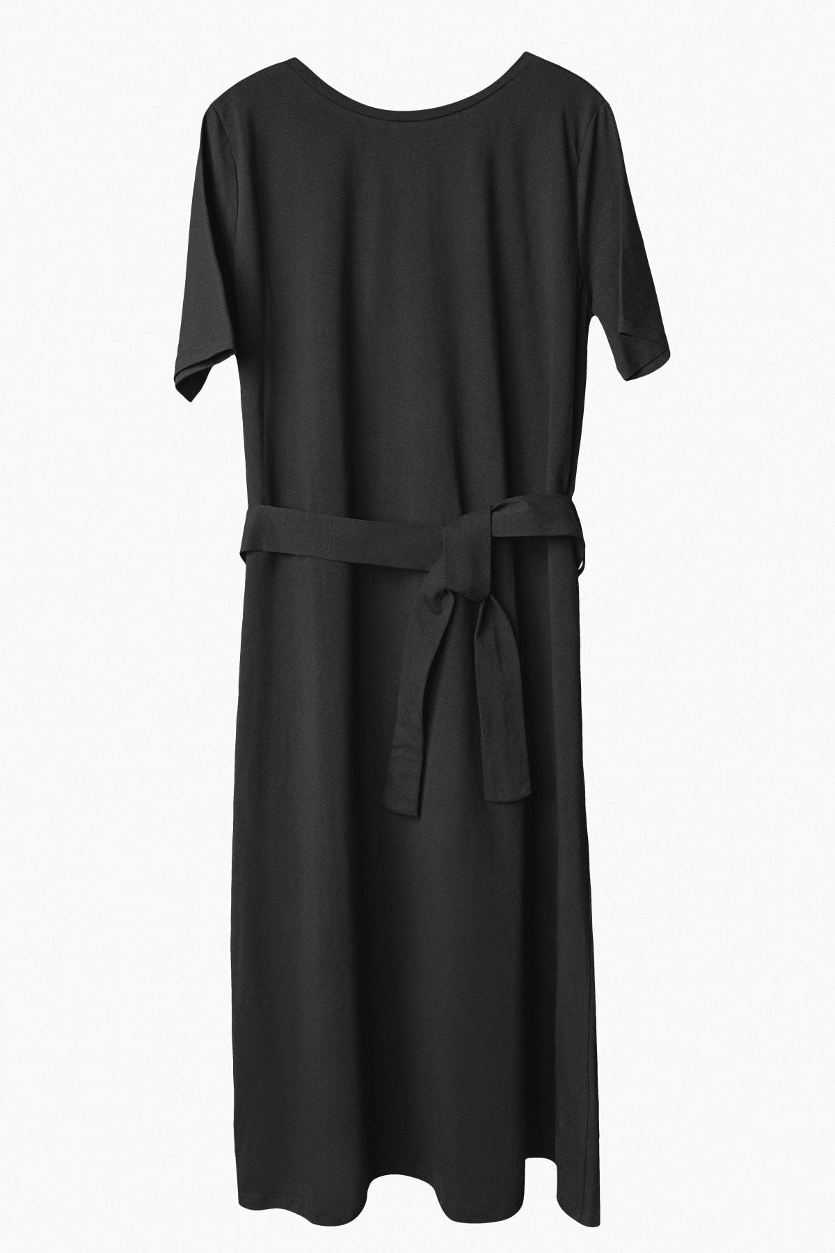 BeCasual Beli Kemerli Penye Elbise 1
