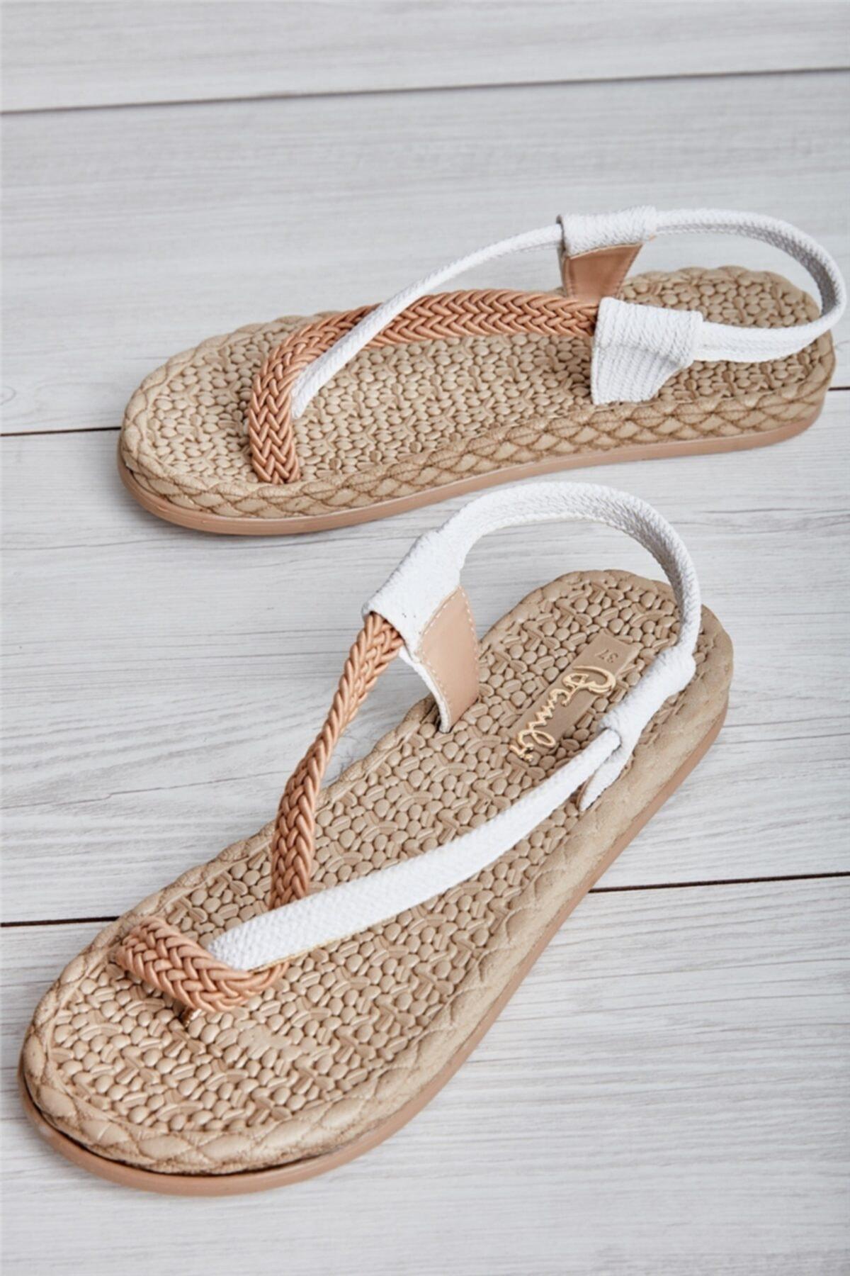 Bambi Beyaz Kadın Sandalet L0823130016 2