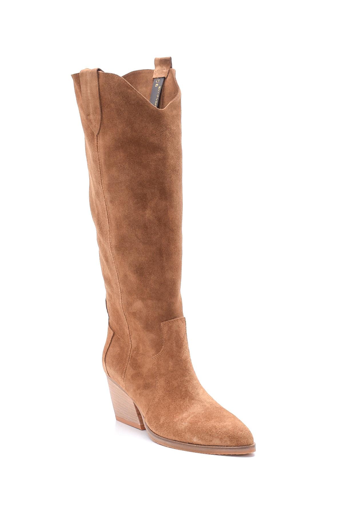 Derimod Kadın Süet Topuklu Çizme 2