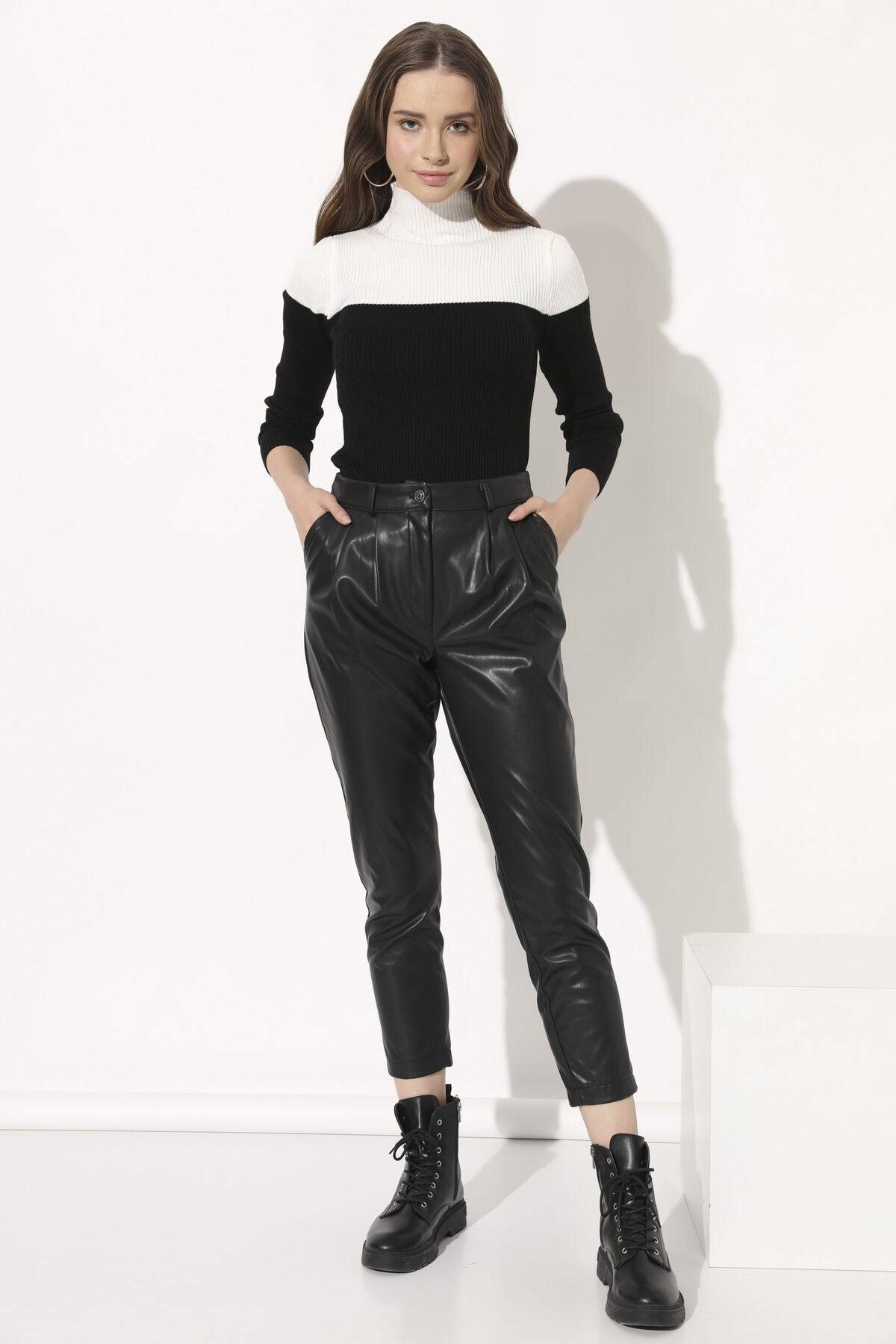 Arma Life Deri Havuç Pantolon - Siyah 1