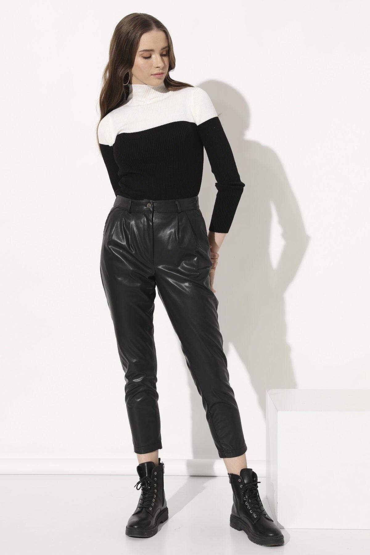 Arma Life Deri Havuç Pantolon - Siyah 2