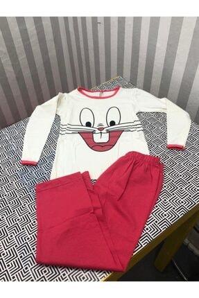 Wonder Kıds Wonder Kinds Uzun Kollu Tavşan Desenli Çocuk Pijama Takımı