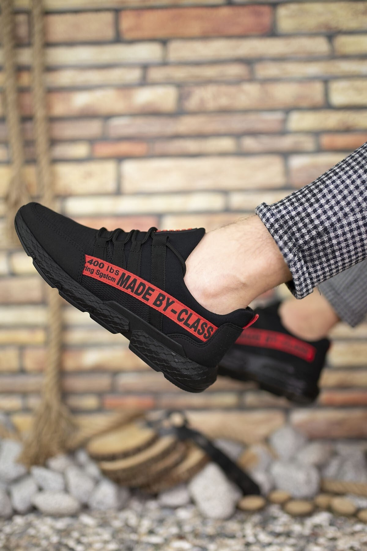 Riccon Siyah Kırmızı Erkek Cilt Sneaker 0012santo 2