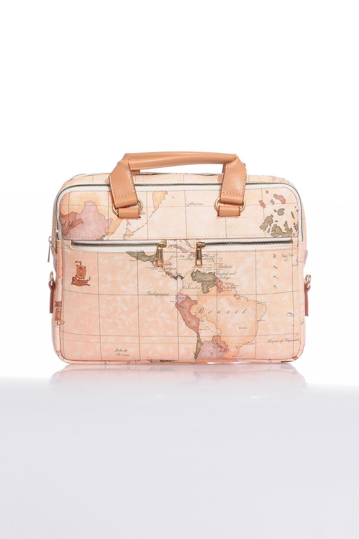 Sergio Giorgianni Luxury Mpevr9123 3 Map Desenli Unısex Evrak Çantası 1