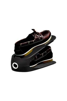 Gondol Plastik Gondol Ayakkabı Rampası 10 Adet Siyah