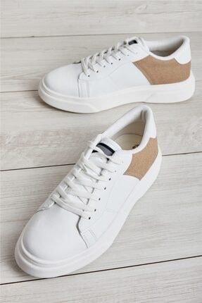Bambi Beyaz Vizon Erkek Sneaker L1806071509