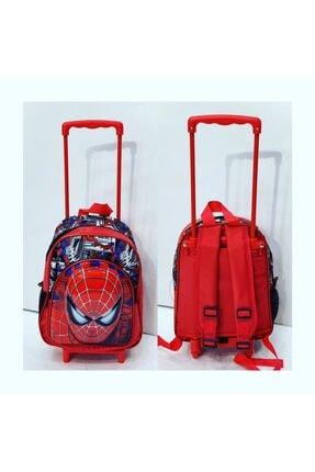 BigSale 2 Gözlü Spiderman Çoçuk Çantası Çekçekli Ve Çekçeksiz Özelliği