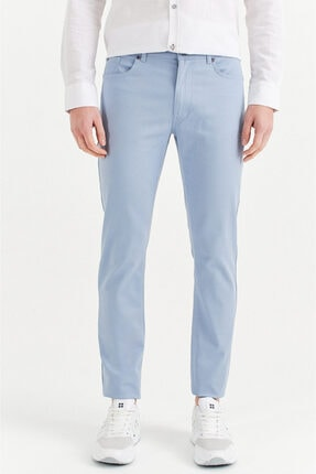 Avva Erkek Gök Mavisi 5 Cepli Basic Slim Fit Pantolon A01y3041