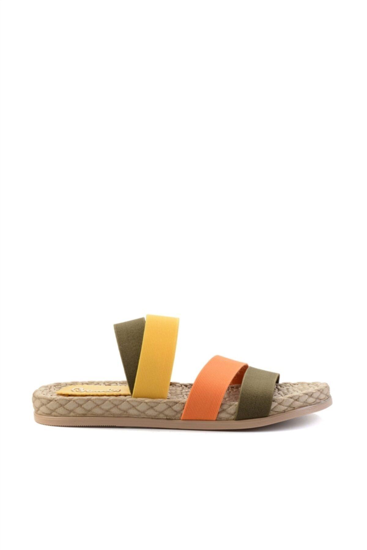 Bambi Haki Kadın Sandalet L0682020054 2
