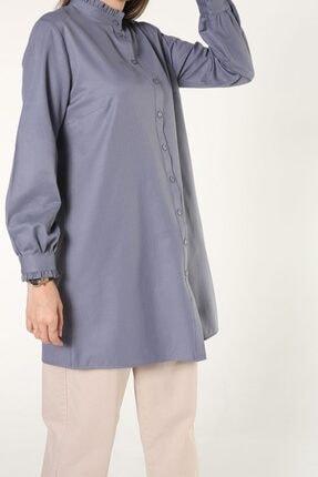 ALLDAY Yakası Kol Fırfırlı Gömlek Tunik