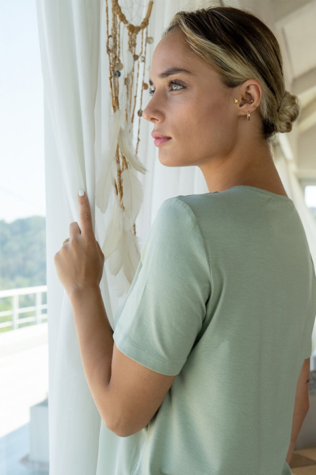Silk and Cashmere Ipek Karışımlı Monica Yuvarlak Yaka Bluz 2
