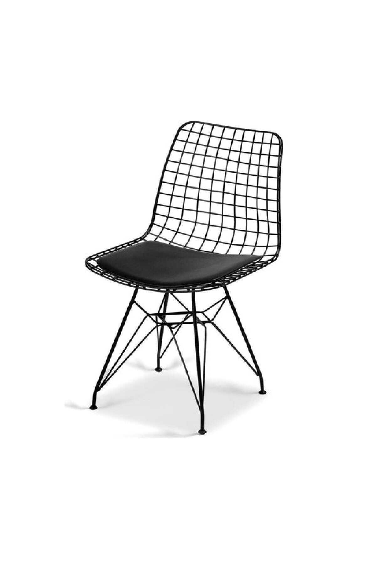 Evdemo Dekor Tel Sandalye Siyah 1