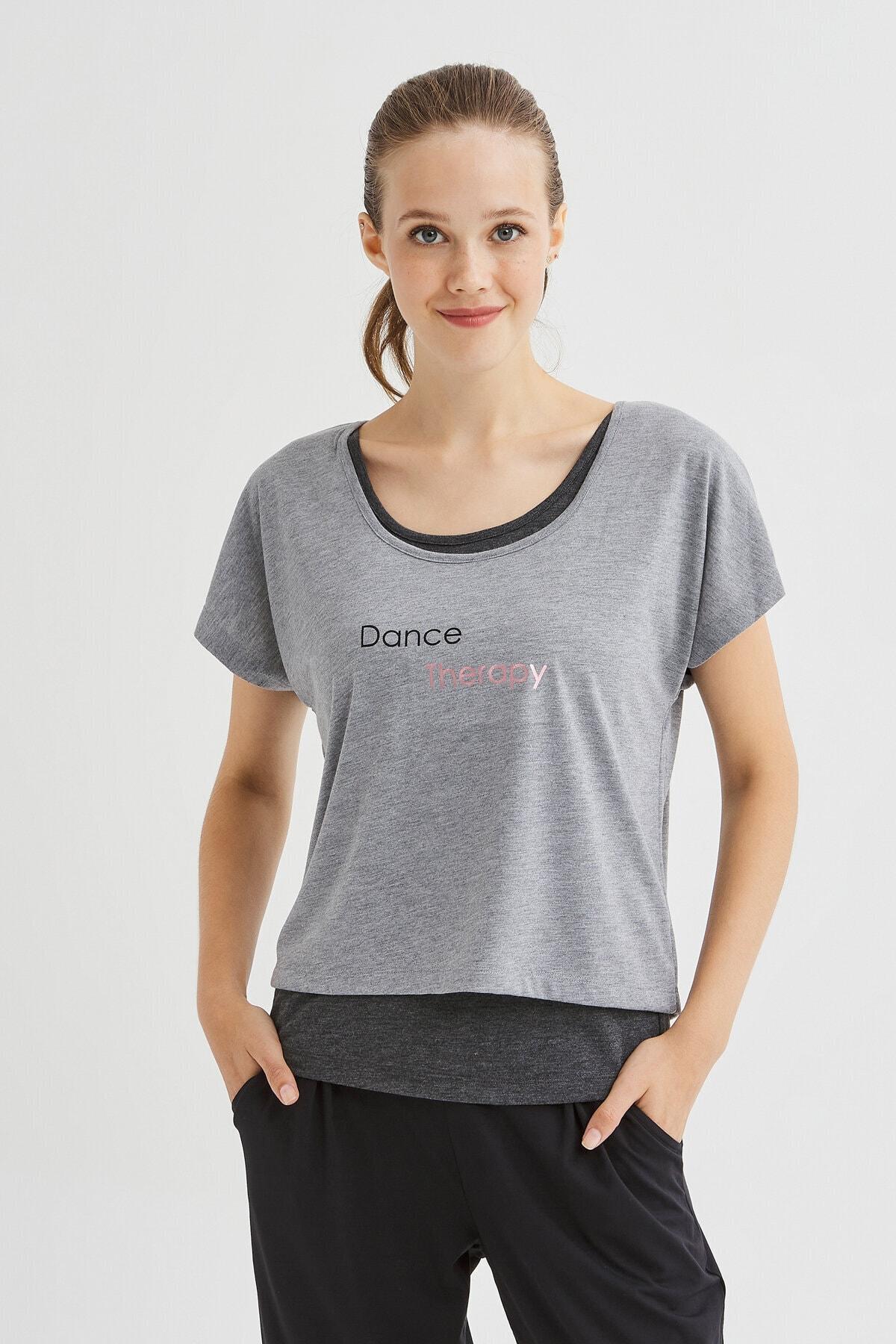 Penti Antrasit Double Dance Tişört 2