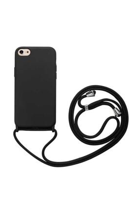 zore Apple Iphone 7 Kılıf Silikon Ipli Boyun Askılı Pürüzsüz Ropi