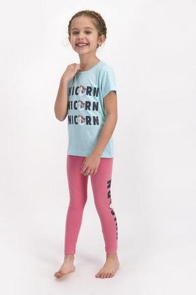 ROLY POLY Kız Çocuk Kısa Kollu Uzun Tayt Takımı Mavı