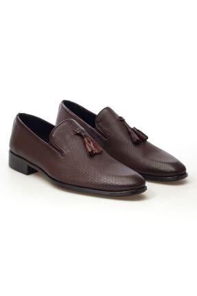 MARCOMEN Taba Hasır Püskül Detaylı Hakiki Deri Bağcıksız Erkek Klasik Ayakkabı • A20eymcm0033