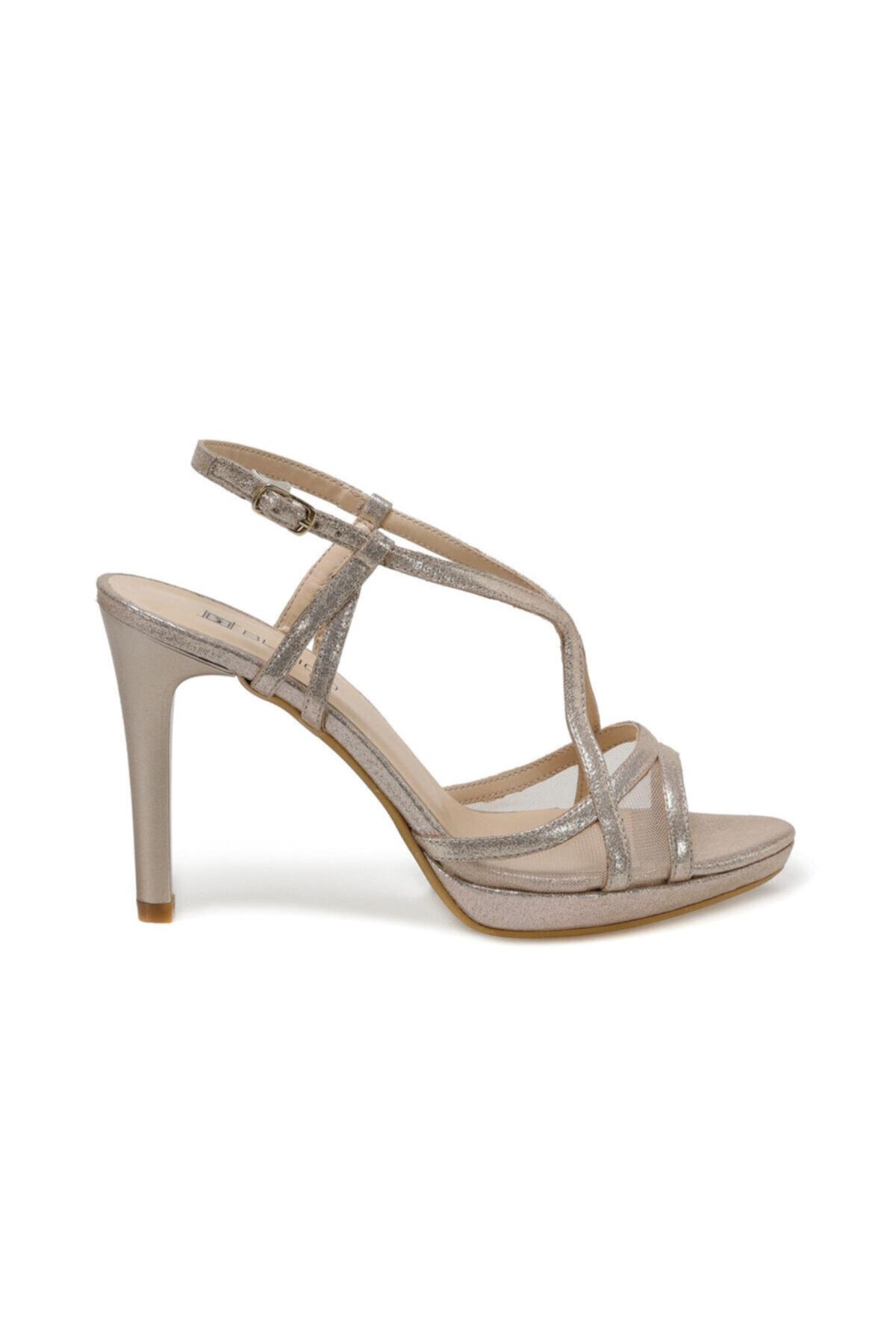 Butigo 20s-102 Altın Kadın Topuklu Sandalet 2