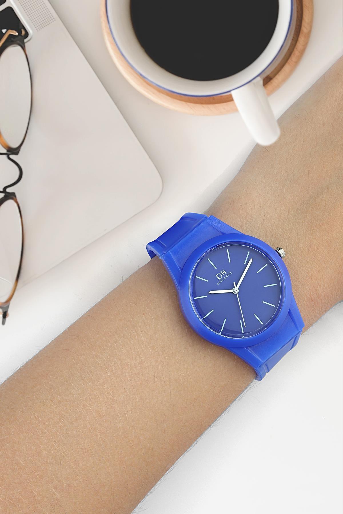 Duke Nickle Due1016 Unisex Kol Saati Silikon Mavi 1
