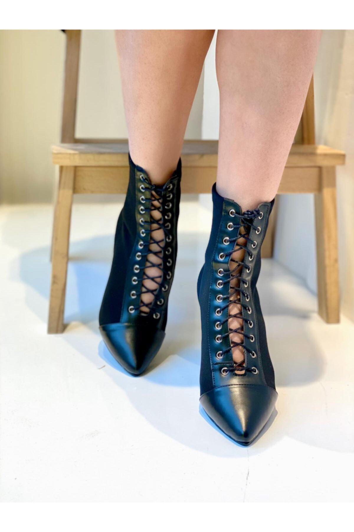 Mel Butik by Gizem Yüncü Mel Shoes Kadın Siyah Botie Mel0002020-12 1