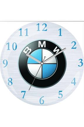 3M Bmw Logo Sessiz Akar Bombeli Gerçek Cam Duvar Saati