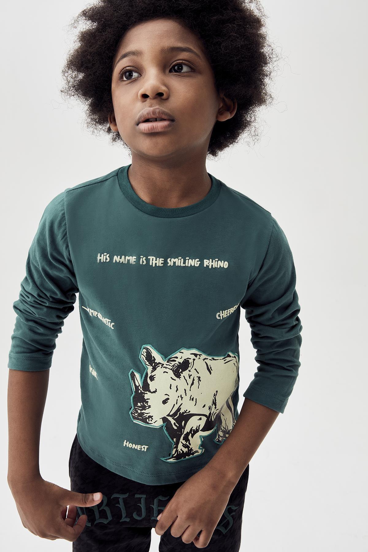 Nebbati Erkek Çocuk Yeşil T-shirt 20fw0nb3521 1