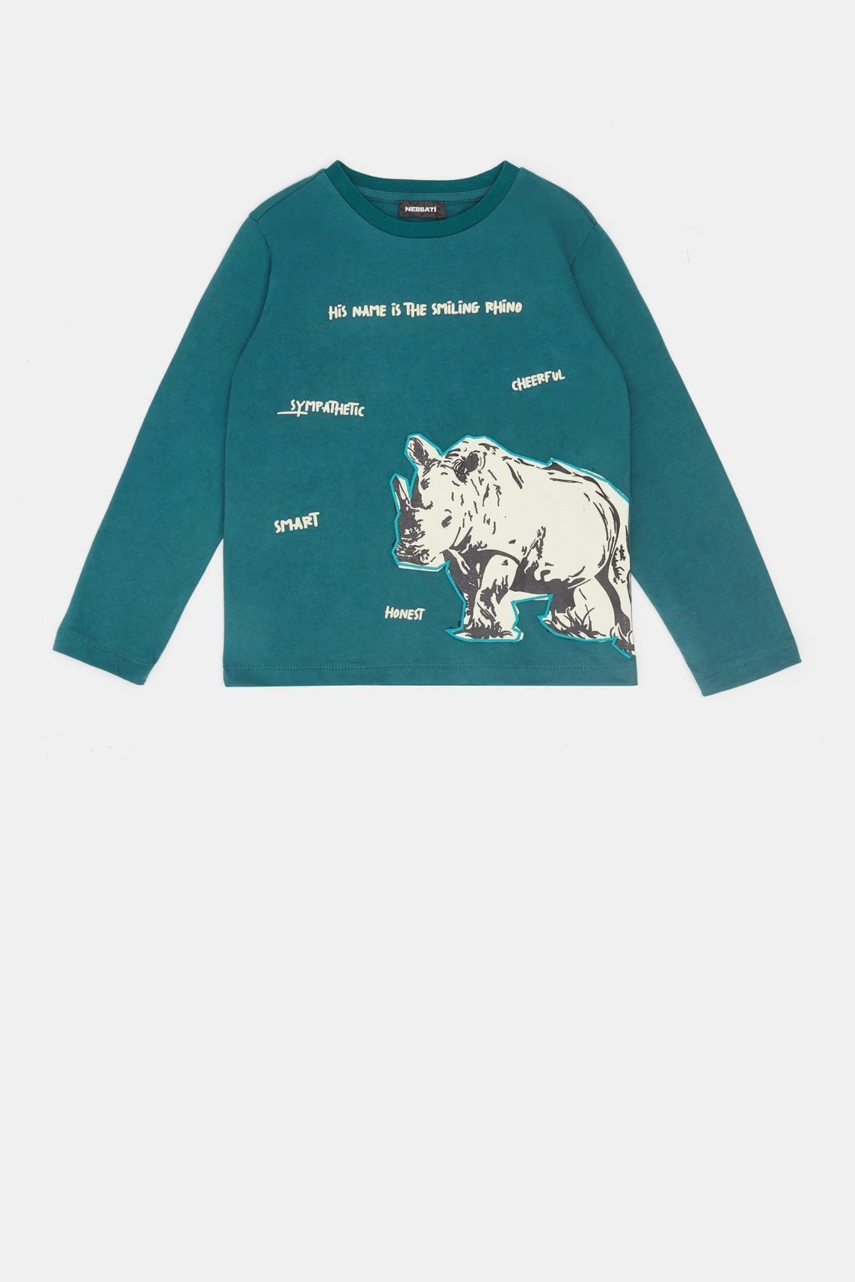 Nebbati Erkek Çocuk Yeşil T-shirt 20fw0nb3521 2