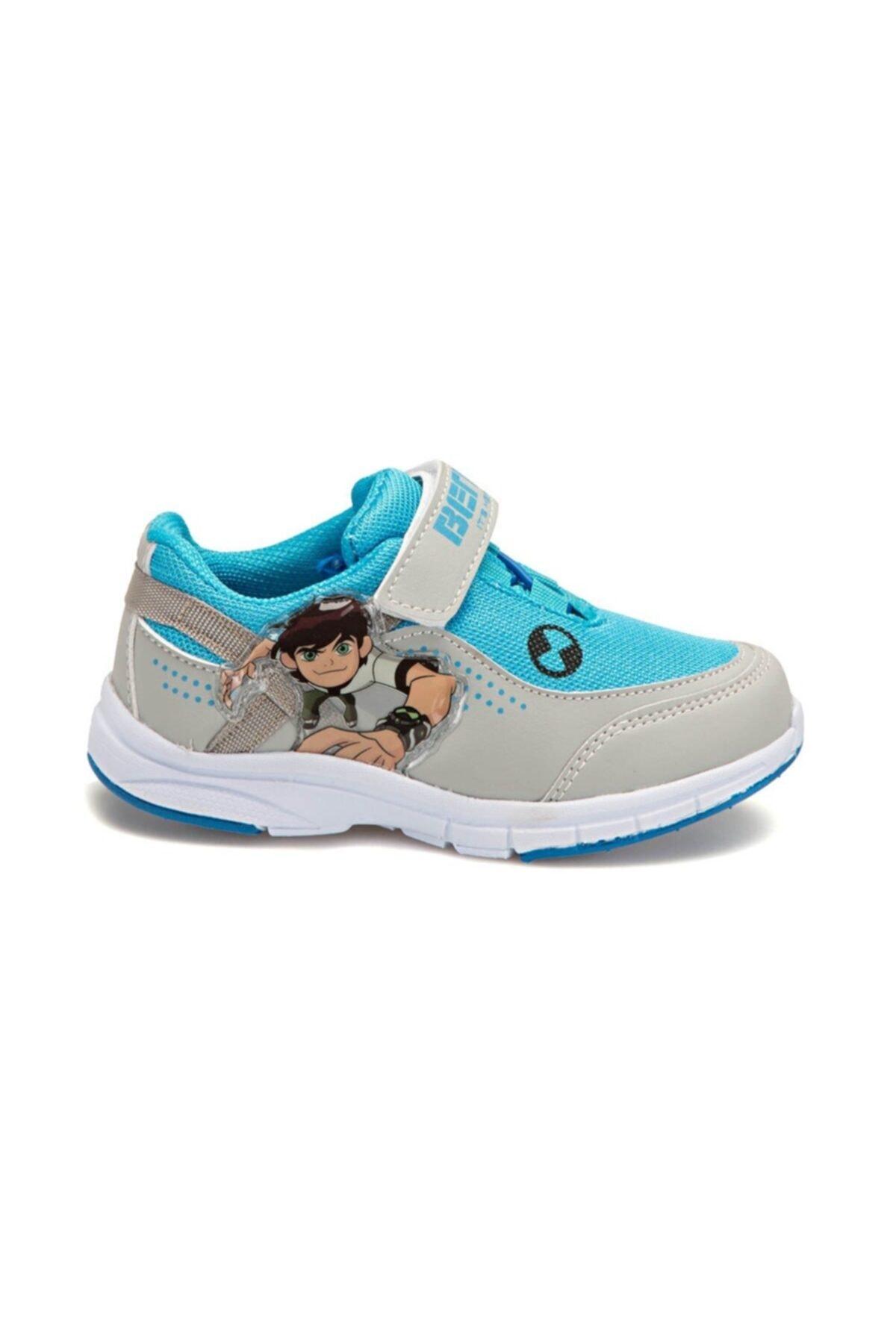 Ben 10 Ben10 Yeti Parlament Renk Erkek Çocuk Cırtlı Spor Ayakkabı 2