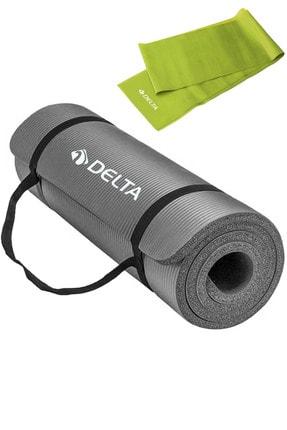 Delta 1.5 Cm Taşıma Askılı Pilates Minderi Egzersiz Yoga Matı 15 Mm, 120x15 Cm Plates Bandı Lastiği