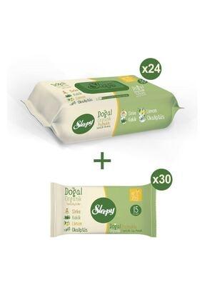 Sleepy Doğal Organik Pamuklu Temizlik Havlusu 24X50 + Cep Mendili 30X15